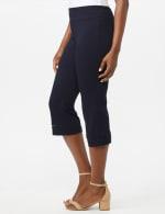 Pull On Crop Lace Hem Pants - 2