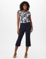 Pull On Crop Lace Hem Pants - 1