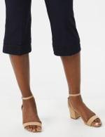 Pull On Crop Lace Hem Pants - 3