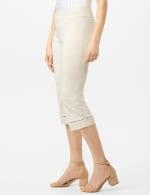 Pull On Crop Lace Hem Pants - 6