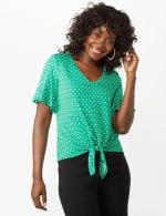 Flutter Sleeve Tie Bottom Knit Top - 11