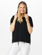 Hoodie Sweater Poncho - 4