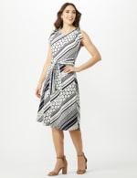 Diagonal Dot and Stripe Dress - 4