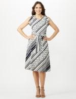 Diagonal Dot and Stripe Dress - 5