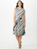Diagonal Dot and Stripe Dress - 6