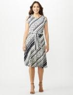 Diagonal Dot and Stripe Dress - 7