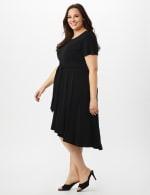 Stretch Crepe Tie Waist High & Low Dress - Plus - 3