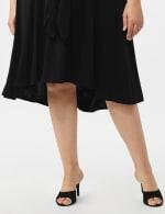 Stretch Crepe Tie Waist High & Low Dress - Plus - 5