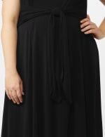 Stretch Crepe Tie Waist High & Low Dress - Plus - 4