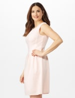 Textures Knit Dress with Embellished Neck - 3