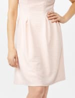 Textures Knit Dress with Embellished Neck - 5