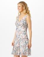 Sleeveless Empire Waist Double Flounce Dress - 3