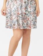 Sleeveless Empire Waist Double Flounce Dress - 5