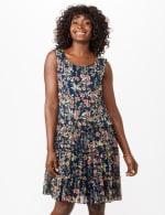 Sleeveless Ditsy Flounce Dress - 3