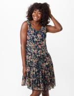 Sleeveless Ditsy Flounce Dress - 5