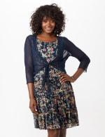 Sleeveless Ditsy Flounce Dress - 6