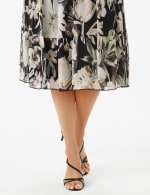 Sleeveless V-Neck Floral Flounce Detail Dress - 5
