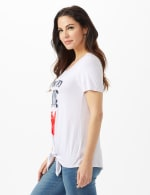 Addicted to Love  Tie Front Screen Tee - 3