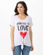 Addicted to Love  Tie Front Screen Tee - 5