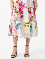 Modern Floral Halter Peasant Dress with Smocked Waist - 6