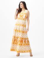 Mixed Pattern Maxi Peasant Dress - 6