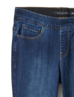 Mid Rise Skinny Pull On Jean Pants - Front And Back Pockets - 6