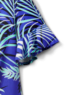 Summertime Palm Print Tie Front Knit Top - 4