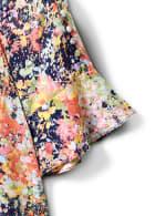 Scoop Neck Ruffle Short Sleeve Blouse - 3
