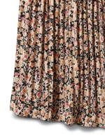 Elastic Waist Plisse Pleated Pull On Skirt - 3