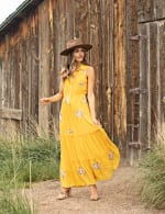 Embroidered Tiered Maxi Dress - 4