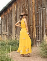 Embroidered Tiered Maxi Dress - 6