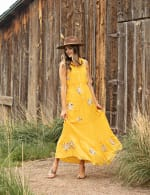 Embroidered Tiered Maxi Dress - 5