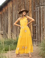 Embroidered Tiered Maxi Dress - 7