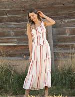 Stripe Smock Waist Maxi Dress - 5