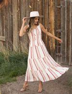Stripe Smock Waist Maxi Dress - 4