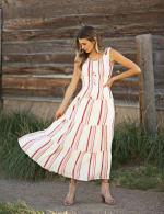 Stripe Smock Waist Maxi Dress - 7