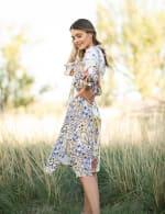 Smocked Waist Hanky Hem Dress - 4