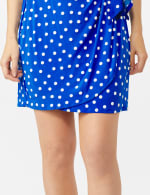 Dot Faux Wrap  Side Tie Dress - Petite - 6
