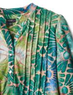 Tie Dye Clip Jacquard Popover Knit Top - 3