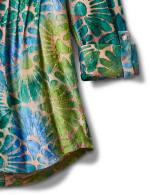 Tie Dye Clip Jacquard Popover Knit Top - 4