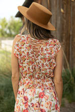 Mixed Floral With Crisscross Back - 4
