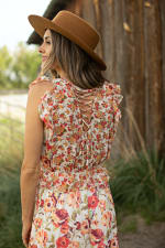 Mixed Floral With Crisscross Back - 5