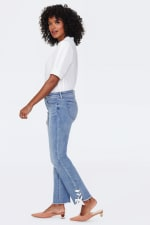 NYDJ Sheri Ankle Jeans with Laced Slits - 4