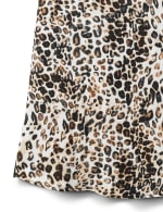 Leopard Mix Media Knit Top - 8