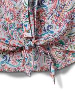 Sleeveless Tie Front Texture Blouse - 3