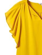 Crepe Flutter Sleeve Blouse - 6