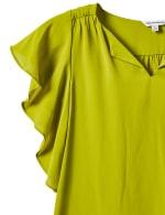 Crepe Flutter Sleeve Blouse - 3