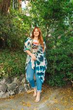 Women's Curve Enhancing Goddess Kimono- Plus - 4