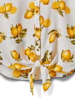 Sleeveless Lemon Tie Front Top - 4