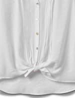 Pintuck Button Front Texture Shirt-Petite - 6